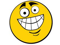 Type souriant de graisse de graphisme Image stock