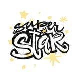 Type superbe slogan expressif d'étoile de typographie d'encre de métier de main illustration de vecteur