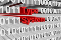 Type system Stock Photo