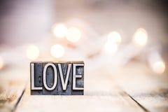 Type thème d'impression typographique de vintage de concept d'amour Photos libres de droits