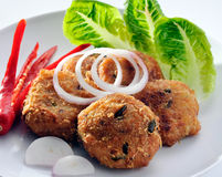 Type thaï frit croustillant de poissons photos stock
