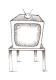 type TV de vieille école illustration stock