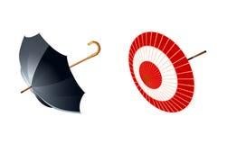 Type twee van paraplu's Vector Illustratie