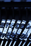 Type a typewriter. Type an old typewriter. symbolic photo for communication in former times Stock Image