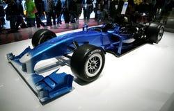 Type van Lotus Exos 125 F1 bij de Show van de Motor van Parijs Royalty-vrije Stock Afbeeldingen