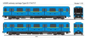 Type 81-714 van metrovervoer Stock Afbeeldingen