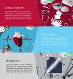 Type van specialistenartsen arts zoals algemene chirurg, ca vector illustratie