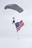 Type w/Flag de parachute de salon de l'aéronautique Photos libres de droits