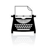 Type writer vector icon Royalty Free Stock Photography