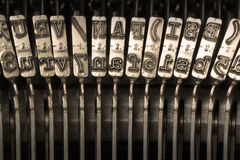 Typebars Royalty Free Stock Images