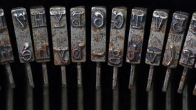 Typebars closeup Royalty Free Stock Images