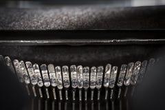 Typebars della macchina da scrivere Fotografia Stock