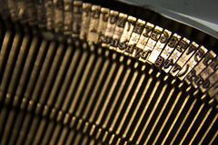 Typebars in a typewriter. Old write device, retro Royalty Free Stock Photos