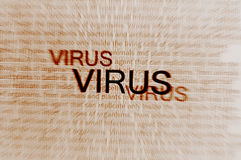 Typed text Virus on paper Royalty Free Stock Photography