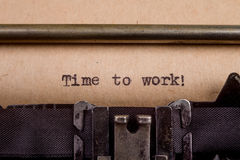 Typed words on a Vintage Typewriter Royalty Free Stock Images
