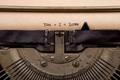 Typed words on a Vintage Typewriter Stock Photos