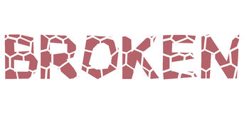 Typeface projekt łamający ilustracja wektor