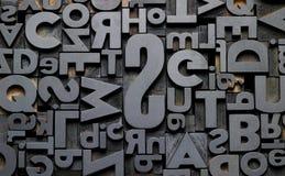 Typefaces w składzie Zdjęcie Royalty Free