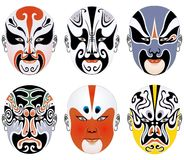 Typen der Gesichtsverfassung in der Peking-Oper stellten fünf ein lizenzfreie stockbilder