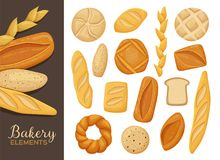 Typer av brödsamlingen Royaltyfri Foto