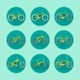 Typer av cyklar Royaltyfria Bilder