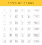 Typer av dörrar Vektor Illustrationer