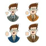 Typer av framsidaformer stock illustrationer