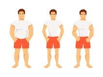 Typer av manliga diagram royaltyfri illustrationer