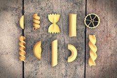 Typer av pasta Royaltyfri Illustrationer