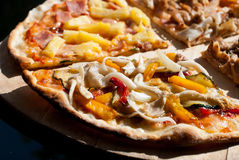 4 typer av pizza Arkivbilder