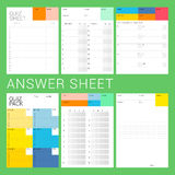 6 types of answer. Sheet ready to print for quiz night, examination, explanation, test Royalty Free Stock Photography