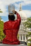 Types au défilé de fierté à Madison, le Wisconsin Image libre de droits