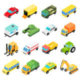 Types of automobiles isometric set Stock Photography