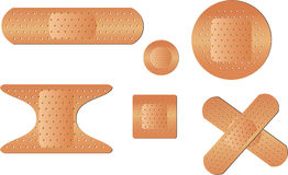 Types of Bandages. Set of adhesive strip bandages. EPS 10 file for this illustration with no open paths Stock Photos