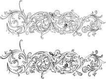 Types baroques du cadre deux Image stock