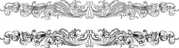 Types baroques du cadre deux : Photographie stock libre de droits
