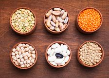 Types of beans Stock Photos