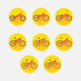 Types of bicycles Stock Image
