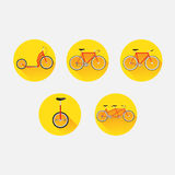 Types of bicycles Royalty Free Stock Photo