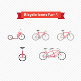 Types of bicycles Stock Photography