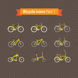 Types of bicycles Royalty Free Stock Image