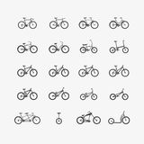 Types of bicycles Stock Photos