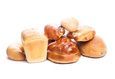 Types of bread Royalty Free Stock Images