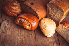 Types of bread stock photography