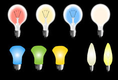 Types of bulb Stock Photo