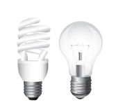 Types of bulbs Stock Photo