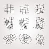 Types Of Chaos Grids Set on white Stock Photo