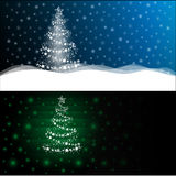2 types of Christmas or New Years background. Background to postcards can be a template for greetings, advertising, banner, letter or desktop Stock Image