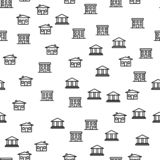 Types Of City Building Seamless Pattern Vector royalty free illustration