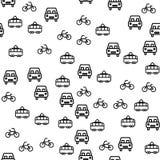 Types Of City Transport Seamless Pattern Vector stock illustration